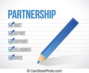 partnership check list illustration