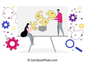 partnership., concept, collaboration, coopération, business