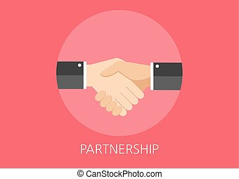 partnership concept flat icon
