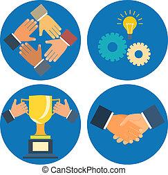 partnership concepts business illustration: assistance,...