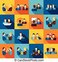 Partnership Flat Icons