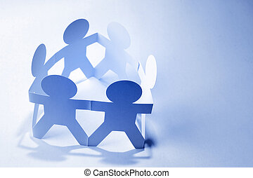 Partnership - Group of people holding hands in a circle