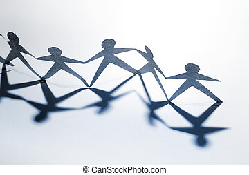 Partnership - Group of people holding hands