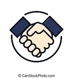 partnership icon color illustration design