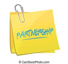 partnership memo post illustration design