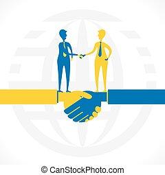 partnership or business relation , hand shake concept design...