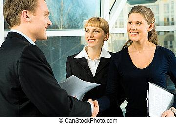 Partnership - Photo of partnership - business people shaking...