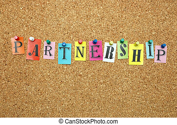 Partnership pinned on noticeboard