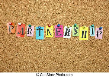 Partnership pinned on noticeboard