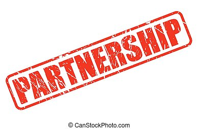 Partnership red stamp text