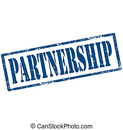 Partnership-stamp - Grunge rubber stamp with text...