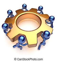 Partnership team work business process workers teamwork - ...