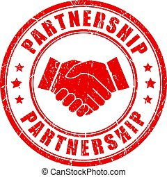 Partnership vector rubber stamp