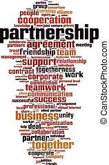 Partnership word cloud concept