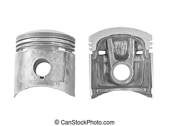 Parts of piston isolated on a white background