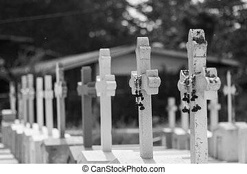 Parts of the cemetery