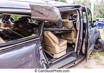 Parts van crash