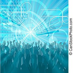 party, Abstrakt,  backgrou,  crowd
