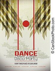 party, Abstrakt,  Grunge, schablone