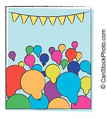 party, Abstrakt, luftballone, hintergrund