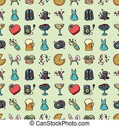 Party and Celebration icons set,eps10