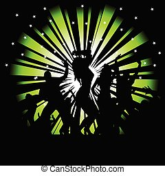 party and disco people vector photo tree