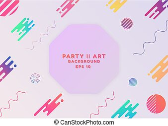 Party art background abstract design modern style with space for text