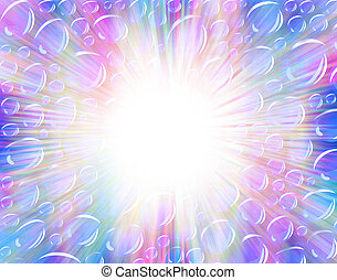 Party background - Background illustration of bright bubbles...