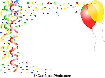 Children Party Background With Happy And Balloons Vectors