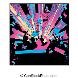 Party Background in CMYK colors