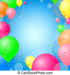Party background - vector illustration of colorful balloons...