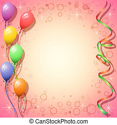 Party Background with Balloons and Streamers