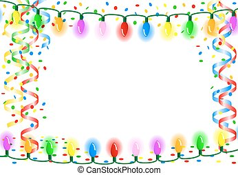 party background with chain of lights - vector illustration...