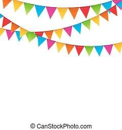 Party Background with Flags Vector Illustration. EPS 10