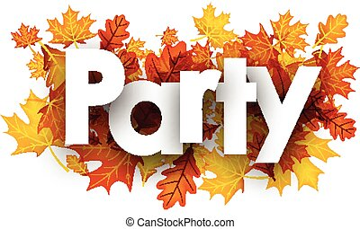 Party background with golden leaves.