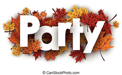 Party background with maple leaves.