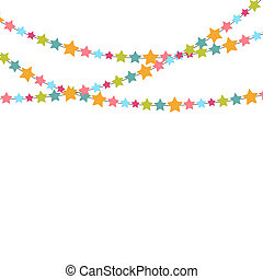 Party Background with Star Confetti Illustration