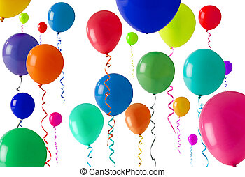 party balloon background - Lots of coloured balloons as a...