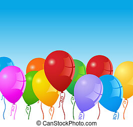 Party balloon background - VECTOR Party Balloons background