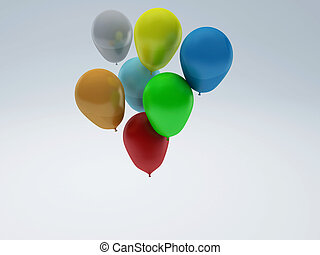 Party Balloons 3d