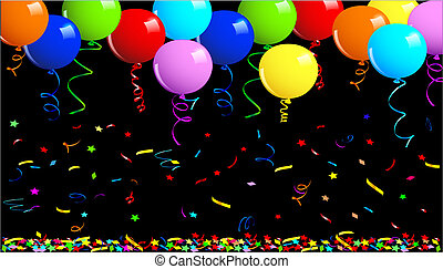 Party balloons background. This image is a vector ...