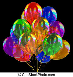Party balloons birthday decoration multicolored translucent