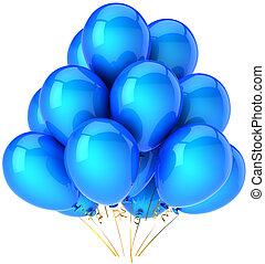 Party balloons blue cyan