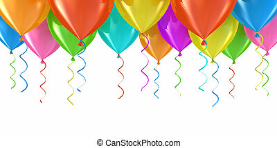 Party balloons abstract background