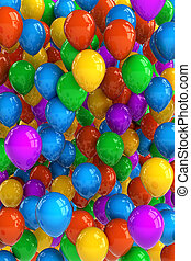 Party Balloons - Colorful party balloon background with ...