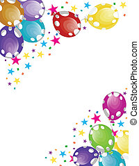Party Balloons - vector illustration of party balloons with...
