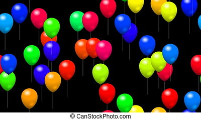 Party balloons generated seamless l