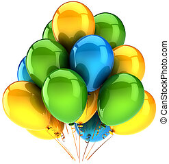 Party balloons multicolor