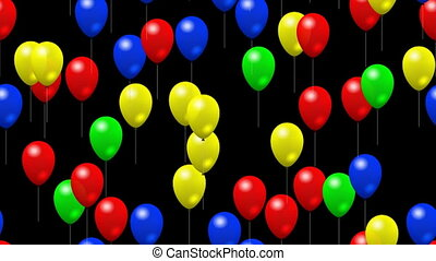 Party balloons seamless loop video