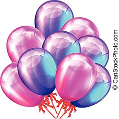 Party balloons. Vector illustration